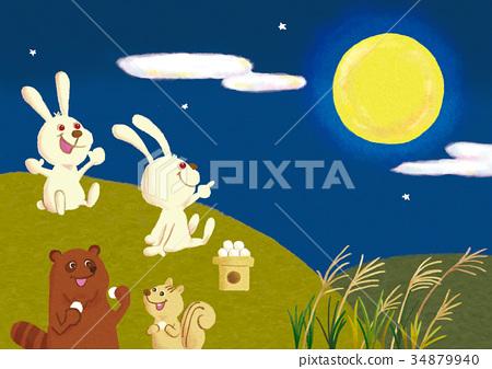 望著動物的月亮 34879940