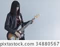 guitar, guitars, female 34880567