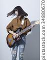 guitar, guitars, female 34880670