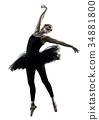 Ballerina dancer dancing woman  isolated silhouett 34881800