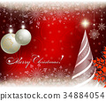 Christmas red delicate background 34884054