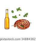 beer sausage grill 34884362