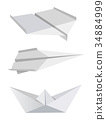 Origami aeroplanes boat  34884999