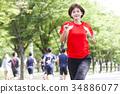 奔跑 慢跑 年輕 34886077