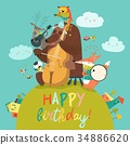 birthday animal music 34886620