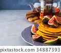 煎餅 堆 南瓜 34887393