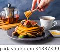 煎餅 堆 南瓜 34887399