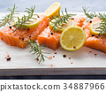 salmon, raw, herb 34887966