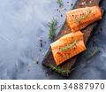 salmon, raw, herb 34887970
