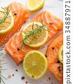 salmon, raw, herb 34887971
