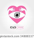 Vector illustration of abstract human eye 34888337