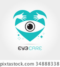Vector illustration of abstract human eye 34888338