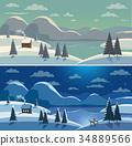 Mountain valley landscape 34889566