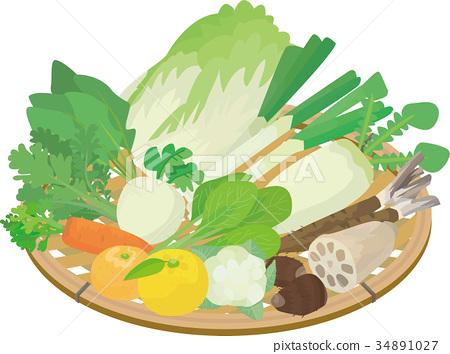 蔬菜 冬天 冬 34891027