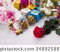 聖誕節圖像(聖誕老人和馴鹿) 34892588