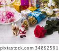 聖誕節圖像(聖誕老人和馴鹿) 34892591