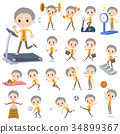 short hair old women_Sports & exercise 34899367