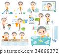 short hair old women_housekeeping 34899372
