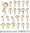 short hair old women_2 34899373