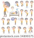 short hair old women_sickness 34899375