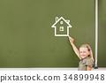 女孩 少女 房屋 34899948