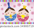 女孩的節日 娃娃表演 女兒節用娃娃 34900719