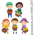 小孩 孩子 收穫 34901267