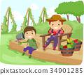 小孩 孩子 休息 34901285