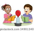 Kids Science Physics Heat Balloon Illustration 34901340