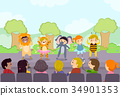 Stickman Kids Stage School Play Parents 34901353