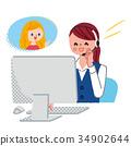 female, lady, woman 34902644