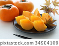 japanese, persimmon, fruit 34904109