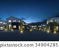 夜景 住宅区 居住区 34904285