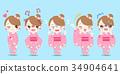 여성, 감정, 문자 34904641