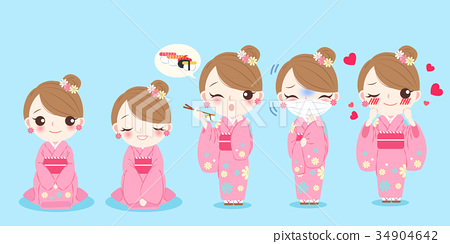 woman wear kimono 34904642