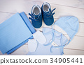 Pregnancy test with positive result on clothing 34905441