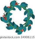 矢量 冬青橄欖 冬青 34906115