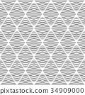 Seamless diamonds pattern. Lines texture. 34909000