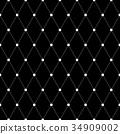 Seamless diamonds pattern. Geometric  texture. 34909002