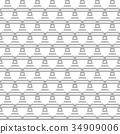 Seamless geometric pattern. 34909006