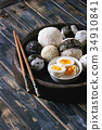 Rice balls and eggs 34910841