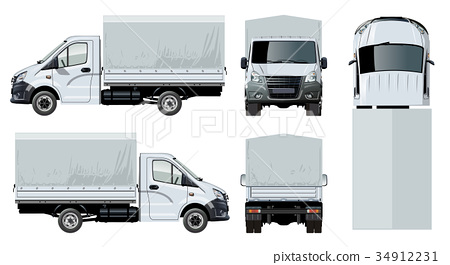 Vector truck template isolated on white 34912231