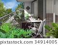 veranda, gardening, wooden deck 34914005