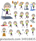 green shirt old women_Sports & exercise 34916835