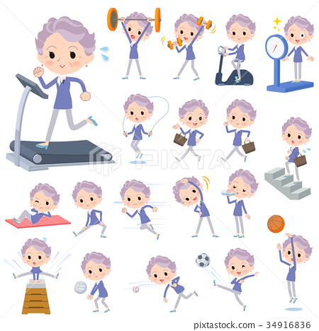 blue one piece old women_Sports & exercise 34916836
