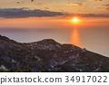sunset on the sea 34917022
