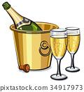 香檳 桶 酒 34917973