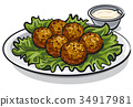 traditional falafel with lettuce 34917981