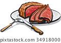 牛肉 熟的 烹飪 34918000