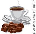 咖啡 巧克力 杯子 34918007